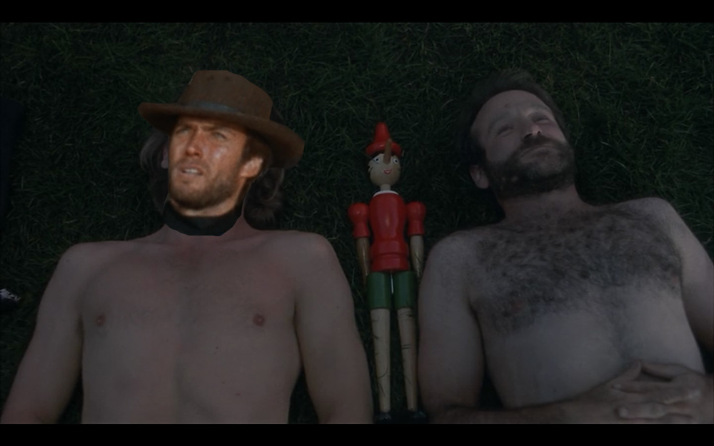 "Clint Eastwood and Robin Williams in ""The Fisher King"""