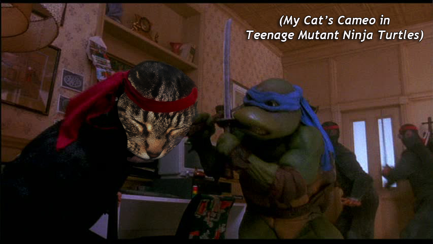 My Cat's Cameo in  Teenage Mutant Ninja Turtles