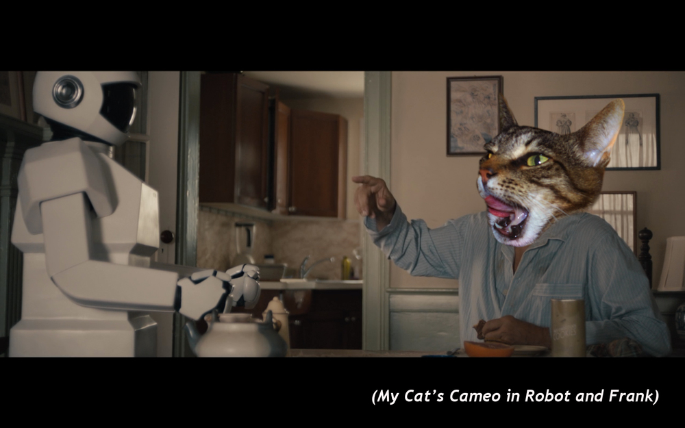My cats cameo in  robot and frank