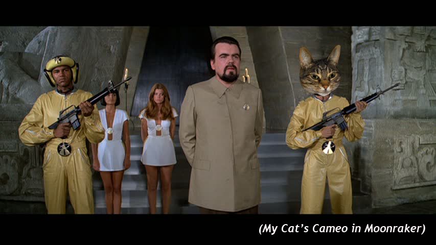 My Cat's Cameo in  Moonraker