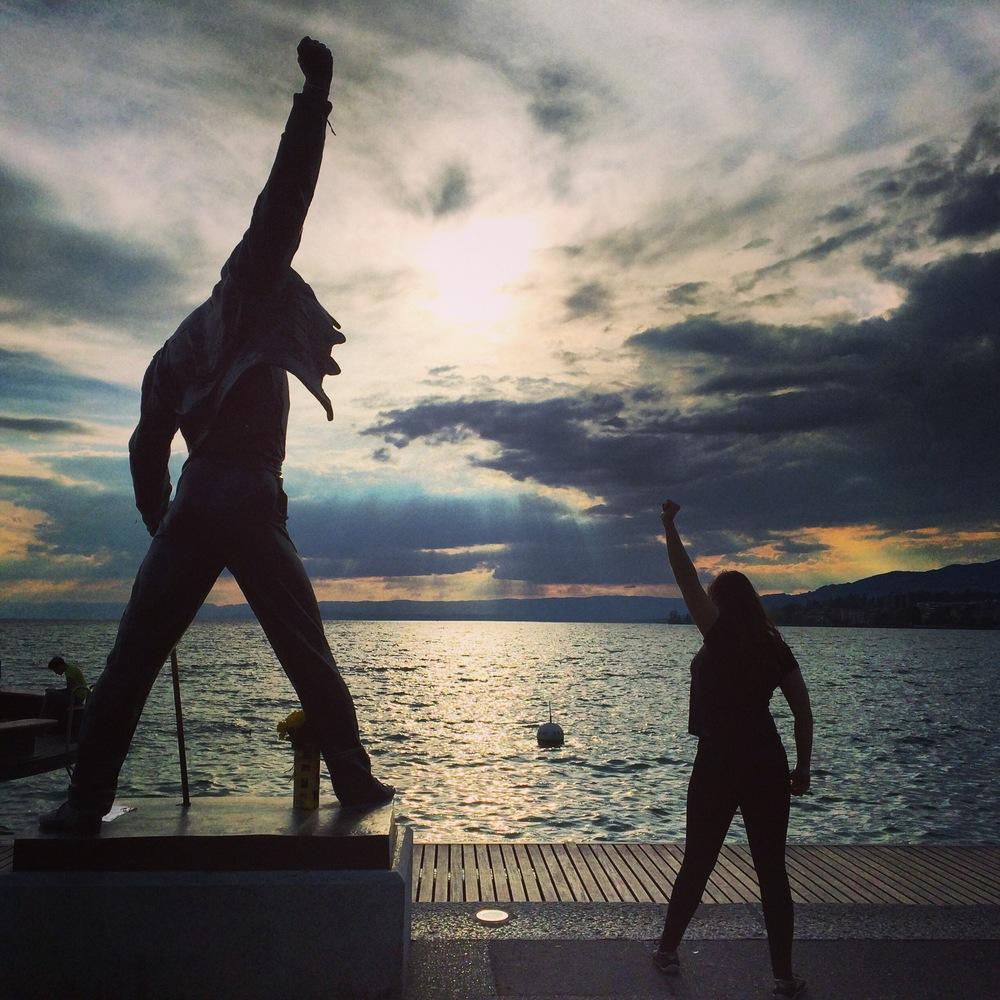 Estátua do mito Freddie Mercury em Montreux: o PQPCast foi conferir!