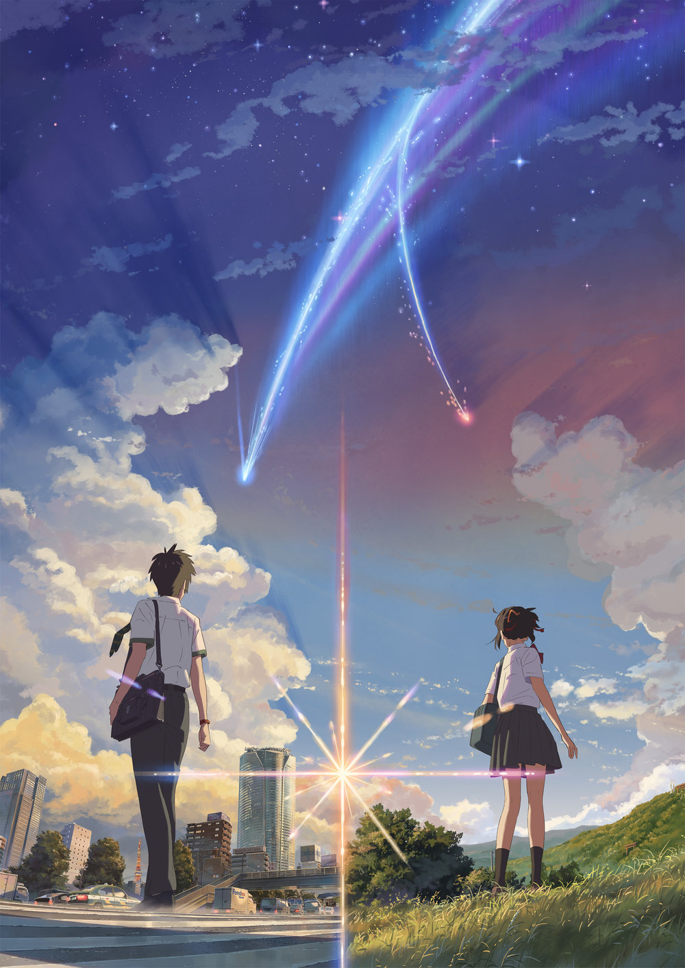 "Poster do novo filme de Makoto Shinkai ""Your Name"" (君の名は), do CoMix Wave Films."