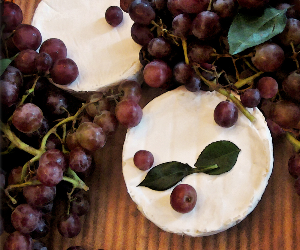 Brie and Grapes