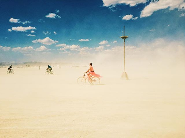 #burningman #burningman2017 #burnergirls #desert #blackrockdesert #blackrockcity #bike #girlonbike #dust #girlinred #igerNV #playa #playaart #unreal #time #iphonephotography #art #beautifuldestinations #utopia #liberation #playadust #life #fantasy #nevada