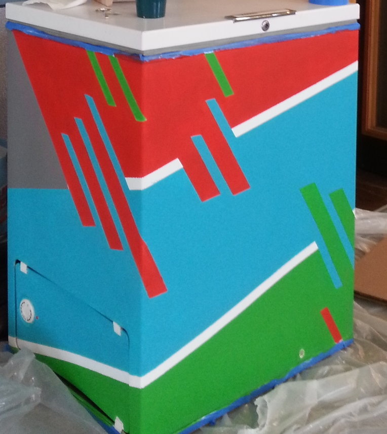 Custom Painted Mini-Fridge