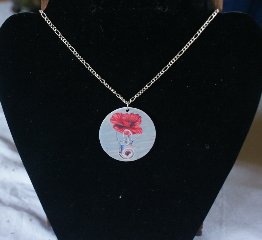 """Poppy"" wearable art print"