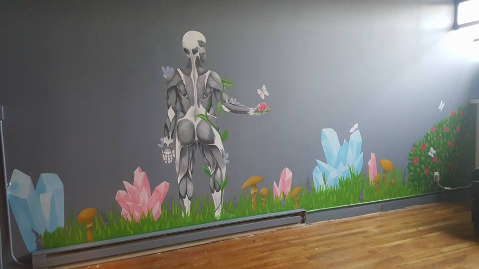Mural at The Bodywork Guru in Denver.