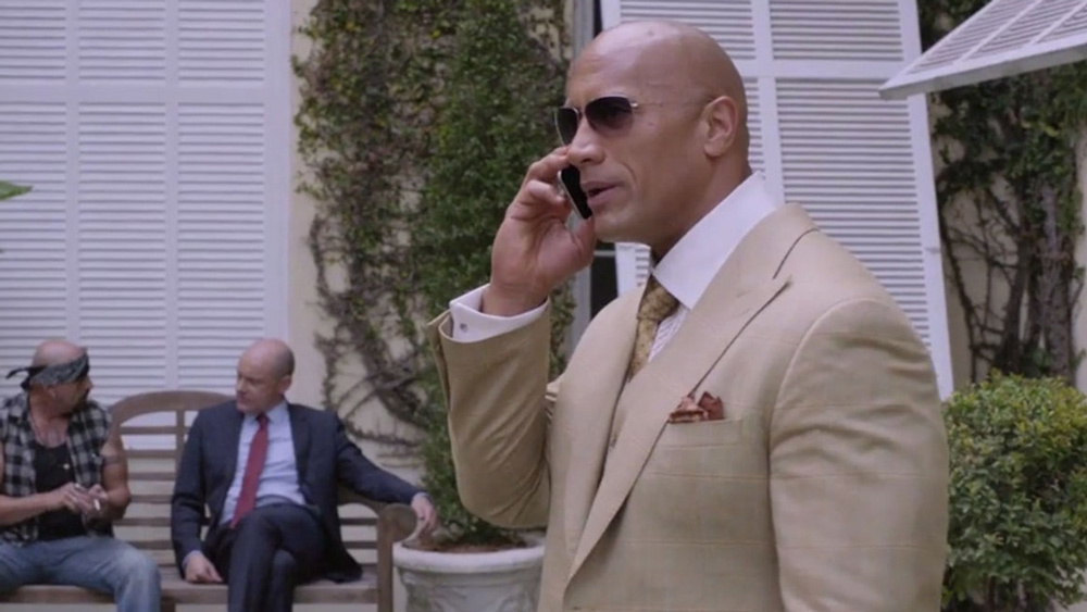 The difference between the Rock and VInnie Chase? The Rock makes this look good.