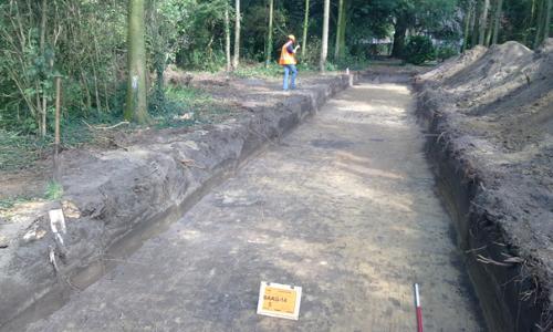 Tranche échantillonage archéologie