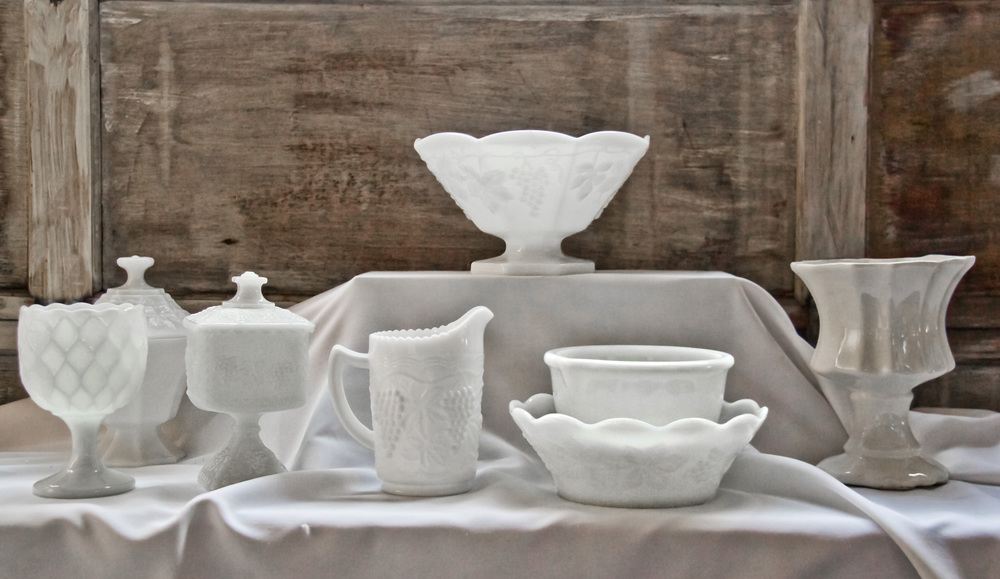 Assorted Large Milk Glass Power Of Love