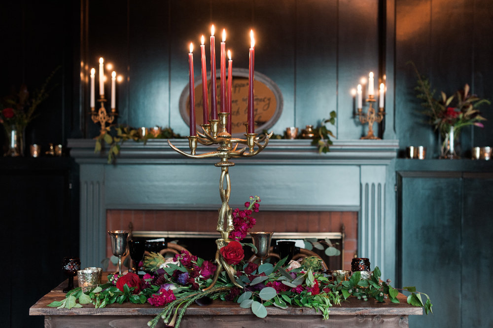 Power of Love Rentals Dark and Moody Sweetheart Table