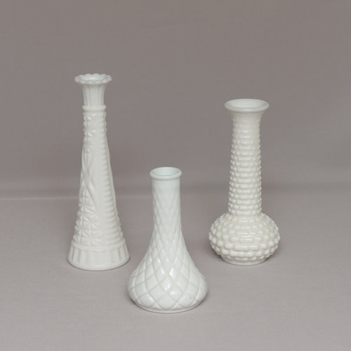 Assorted Milk Glass Vases Power Of Love