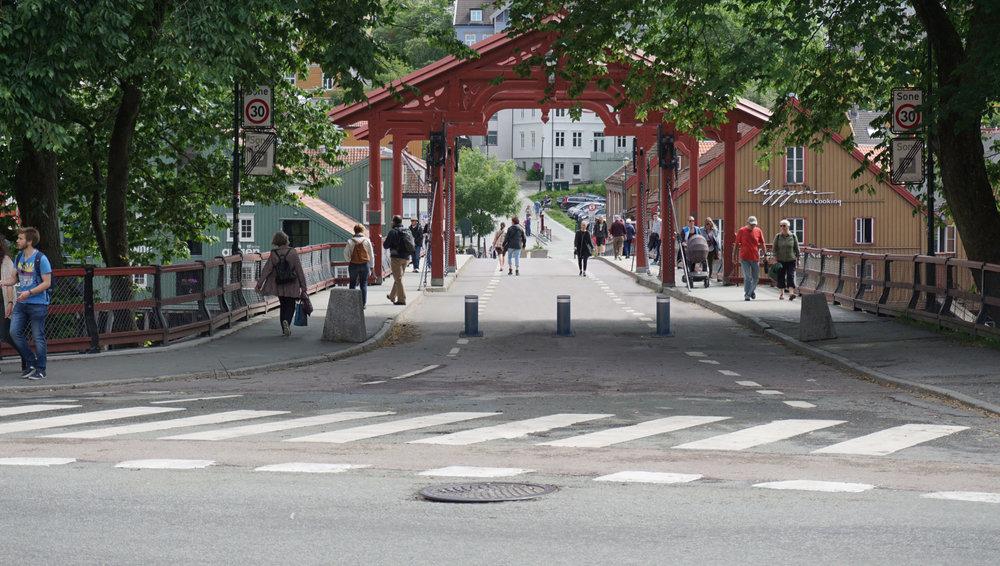 Pullerter og bilsperrer i Trondheim