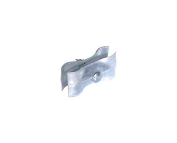 Skjøteklammer - Solid skjøteklammer i galvanisert stål. Åpnes / lukkes med spesialnøkkel slik at ingen uvedkommende åpner gjerdene og skaper uønsket adgang.