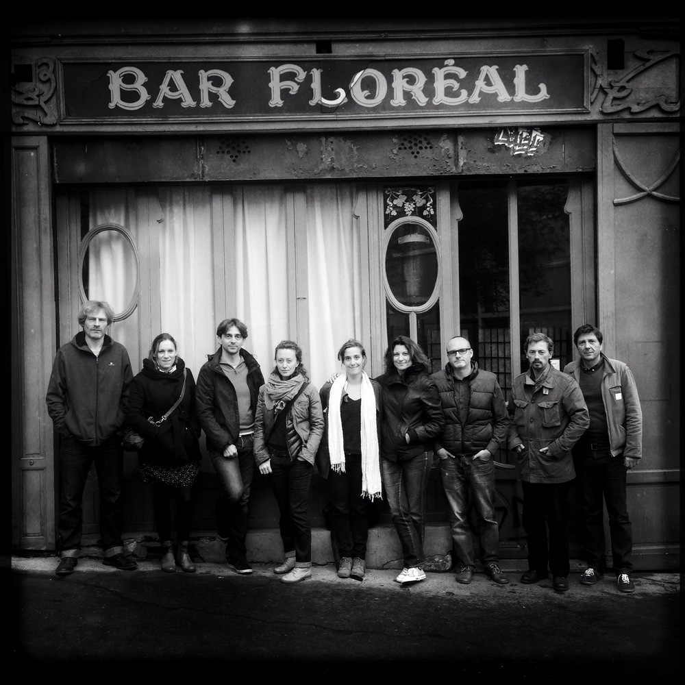 Eyes in Progress Portrait Workshop 2014. Participants: Francois, Fanny, Jean-Phillipe, Delphine, Alexandra, Els, myself, Thierry and Pascal.