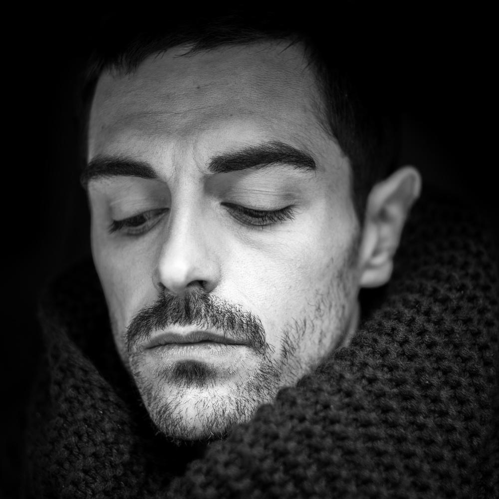Black and white portrait. Model: Clemont