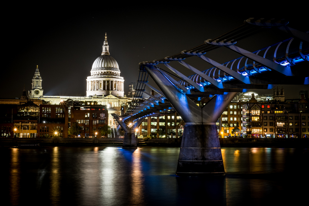 St.Paul's Cathedral and the Millennium Bridge
