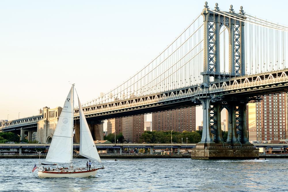 Brooklyn Bridge, from Brooklyn Bridge Park, NYC.September 2015.