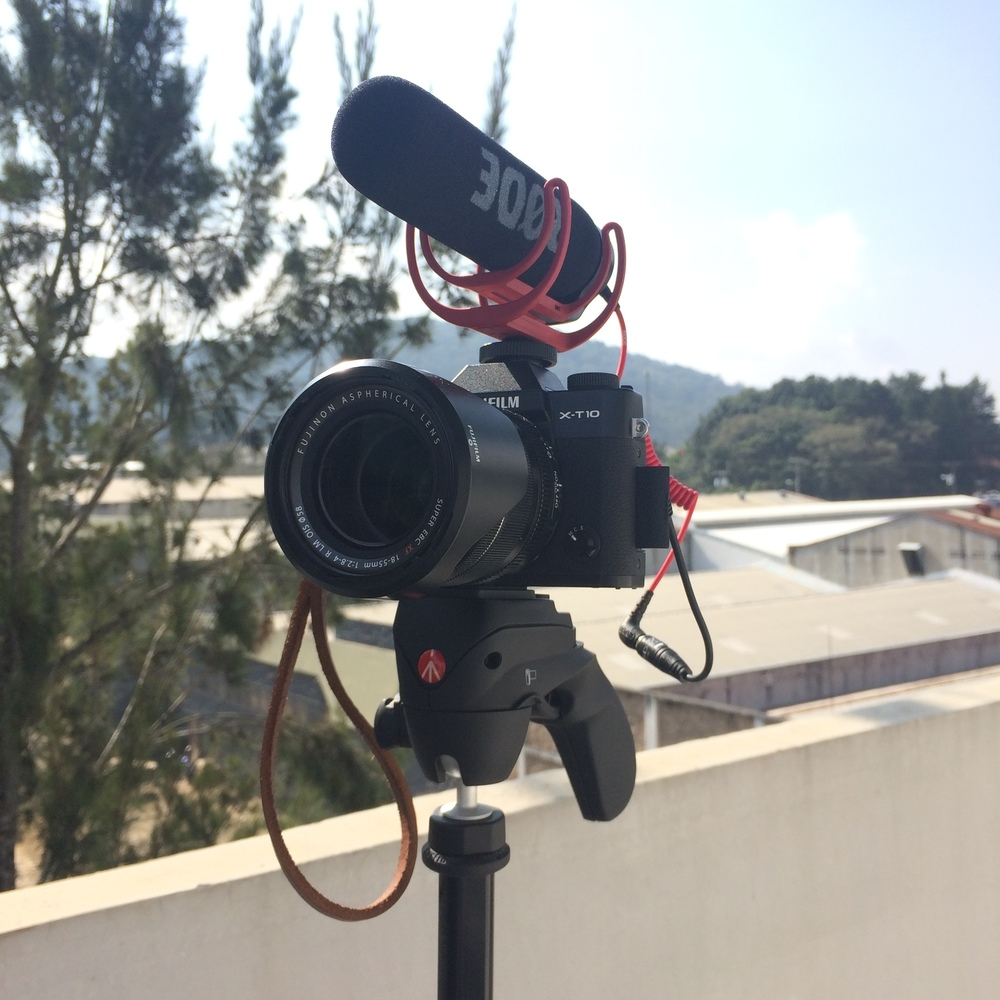 Ready for interviews, on a rooftop in Guatemala City