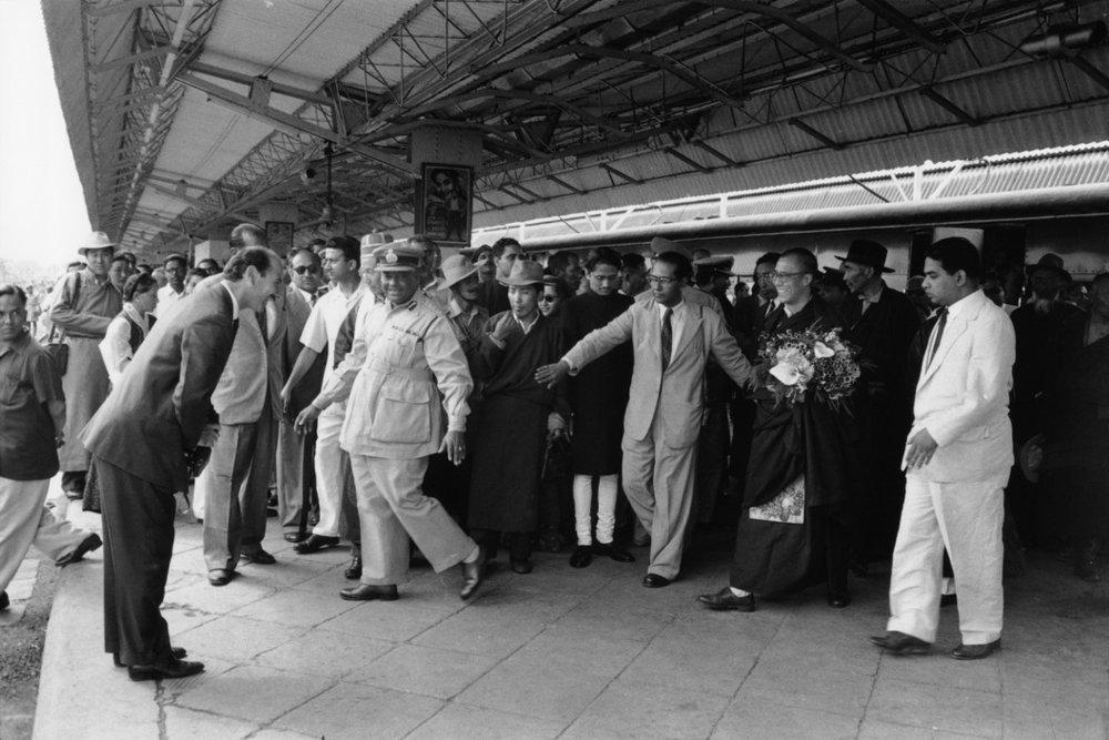 The Dalai Lama, Siliguri station, 1959. © Marilyn Silverstone/Magnum Photos