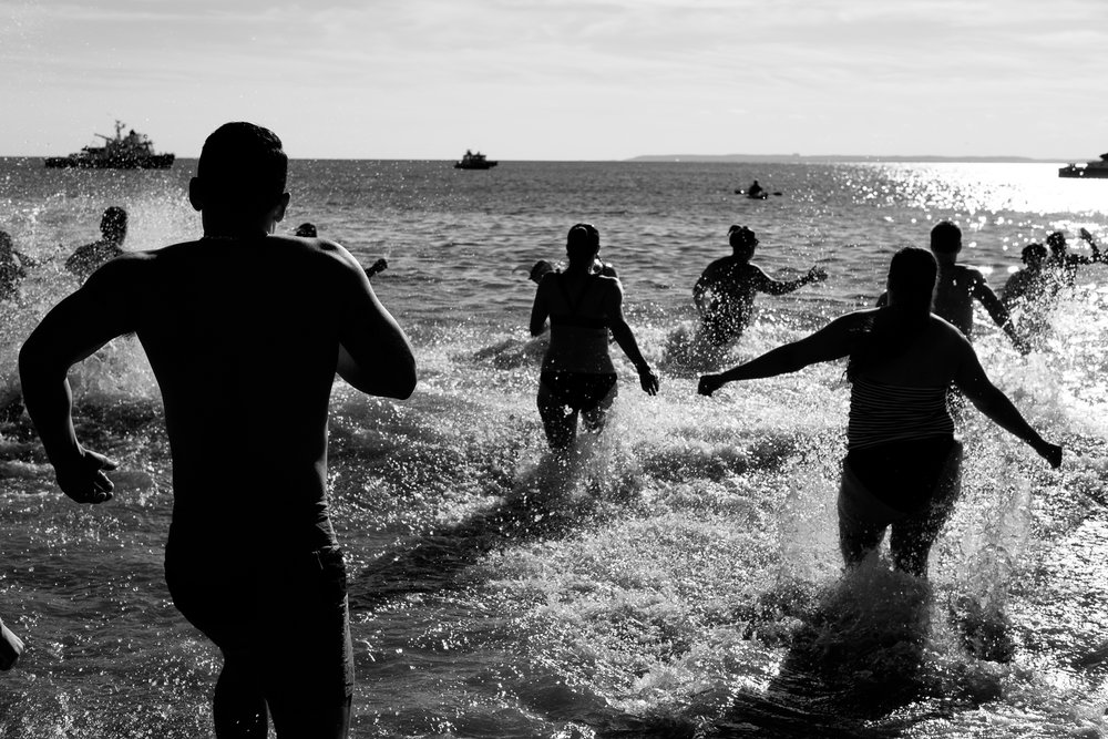 Polar Bear New Year Swim, Coney Island, 1 January 2017