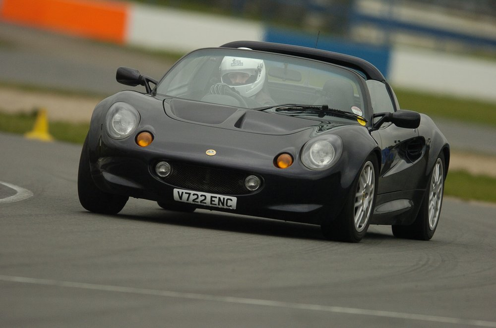 Seems like a good excuse to share a old car pic. On track in my first Lotus, a fondly remembered series 1 Elise.