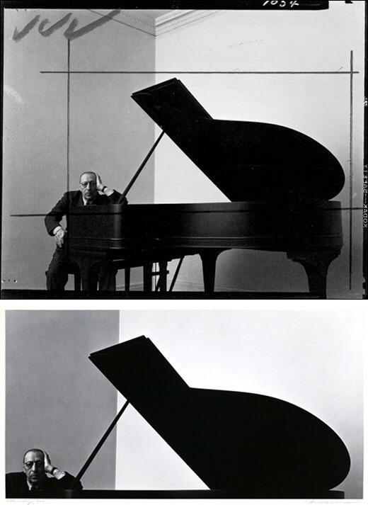 Igor Stravinsky by Arnold Newman, 1946