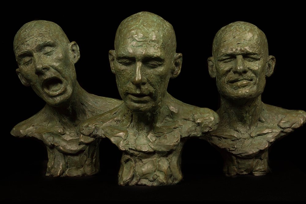 Bronze portrait heads