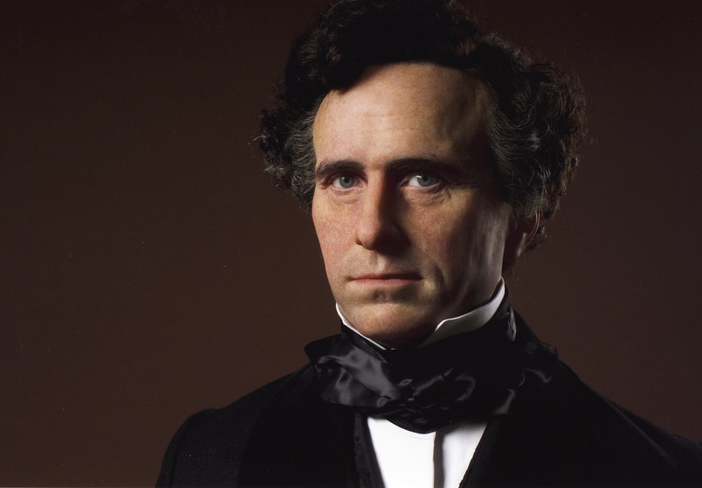 Franklin Pierce waxwork portrait