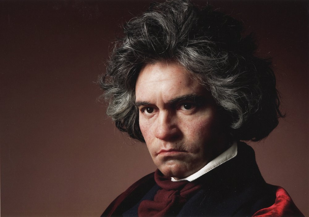 Beethoven Wax Portrait Sculpture