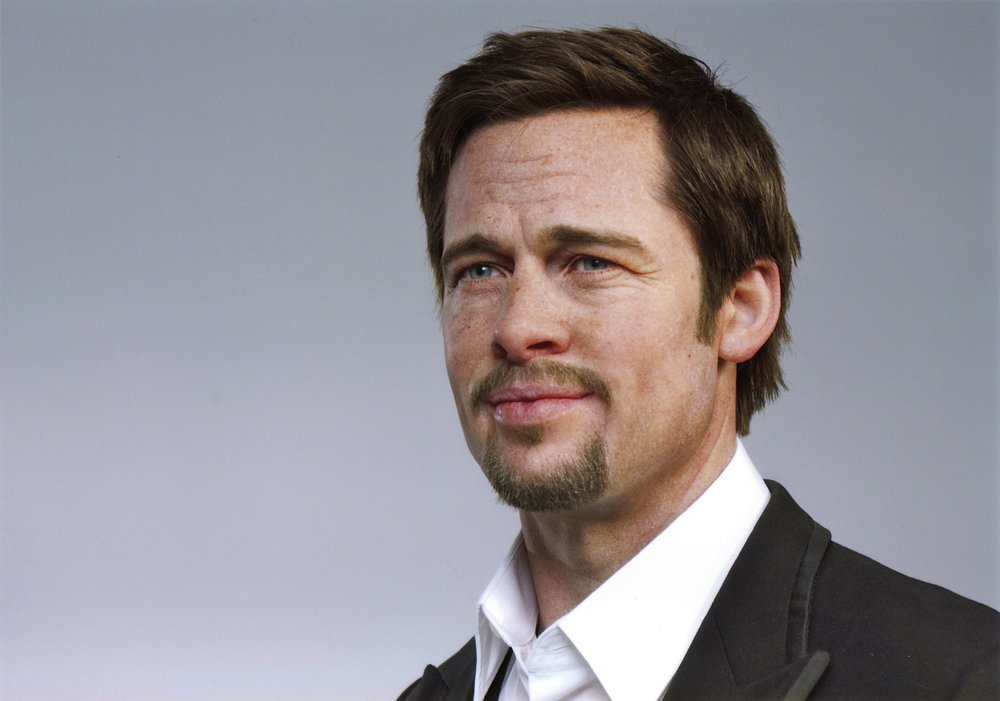 Brad Pitt hyper-realistic wax portrait