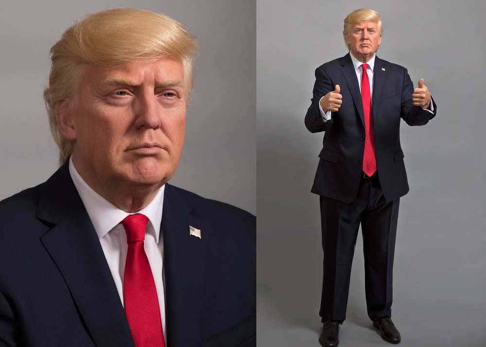 President Trump Wax Figure