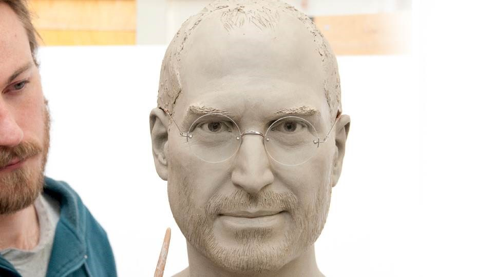 Steve Jobs realistic clay sculpt