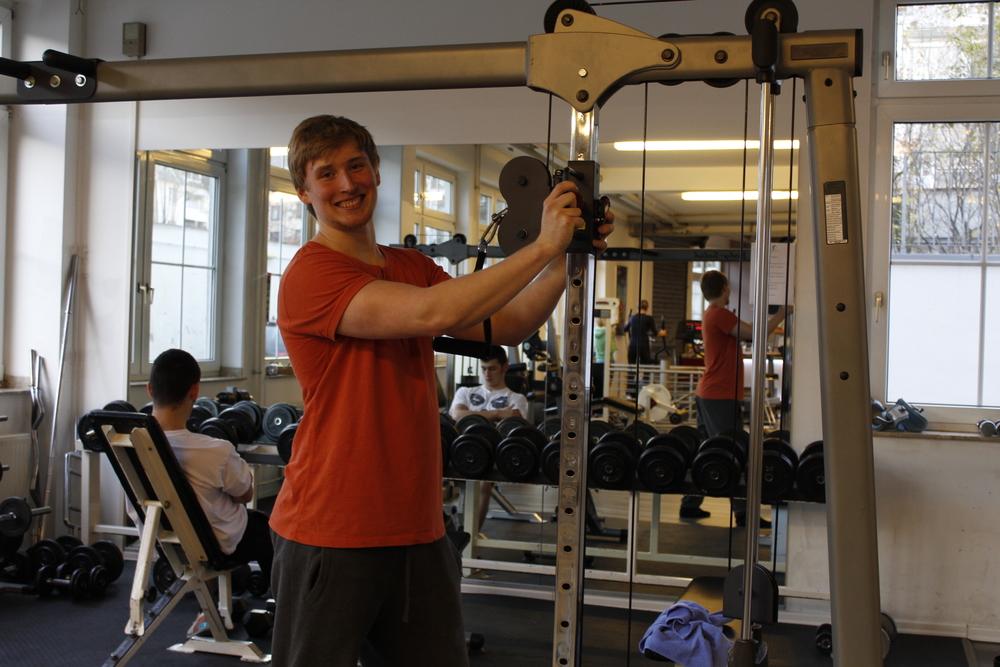 Ruben får träna hur mycket han vill på gymmet Vital Sport.