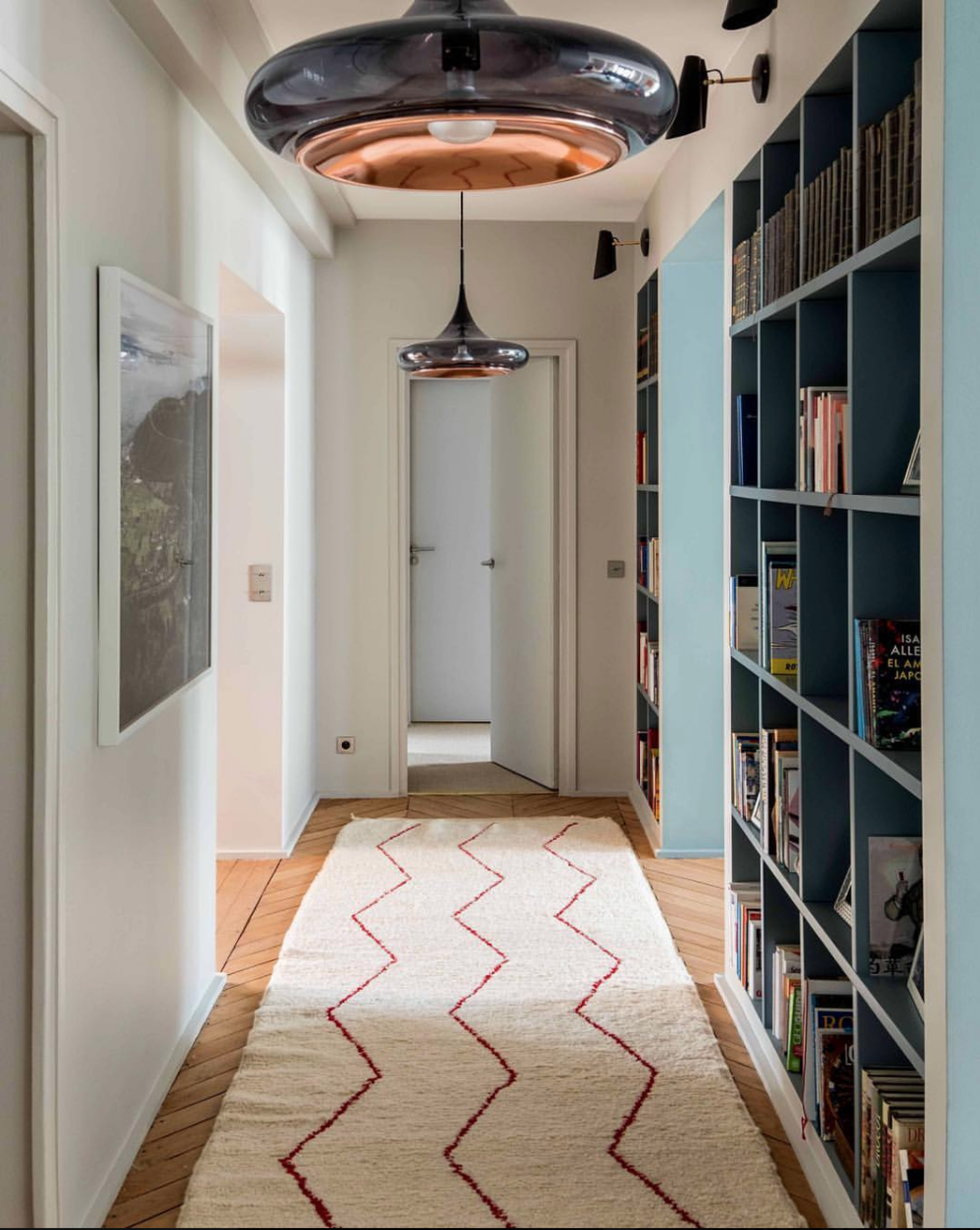Tapis Beniouarain de couloir de 6,6 mètres - Commande sur mesure - Paris XVI