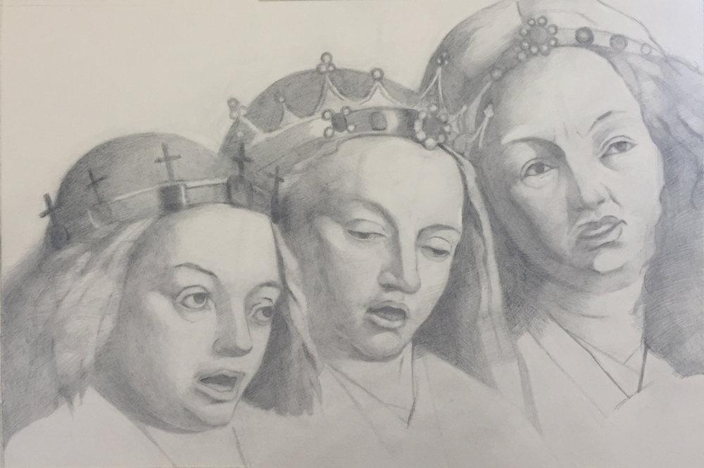 After Van Eyck (In Progress): 2018 –Graphite