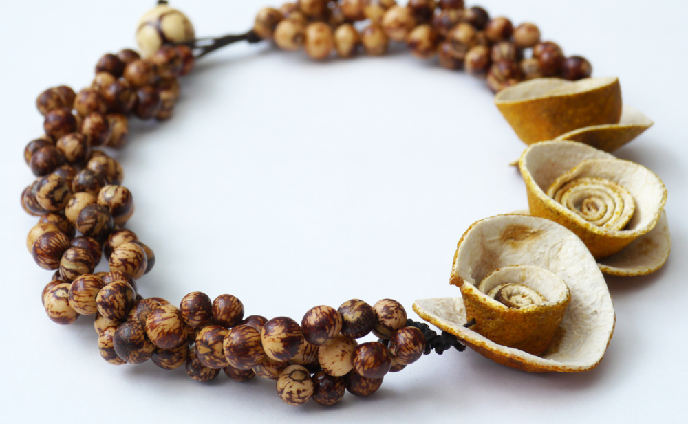 A 8 - LilaBe                                                             Lina Bernal Accessories crafted out of fruit and seeds.