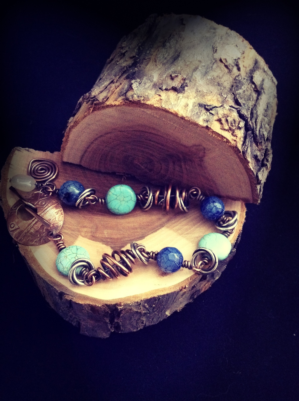 B 2 - J'Adore Handcrafted Jewelry                  Michelle Broneske Rustic jewelry designs with a contemporary flare.  Gemstones, leather, metal, and traditional sting