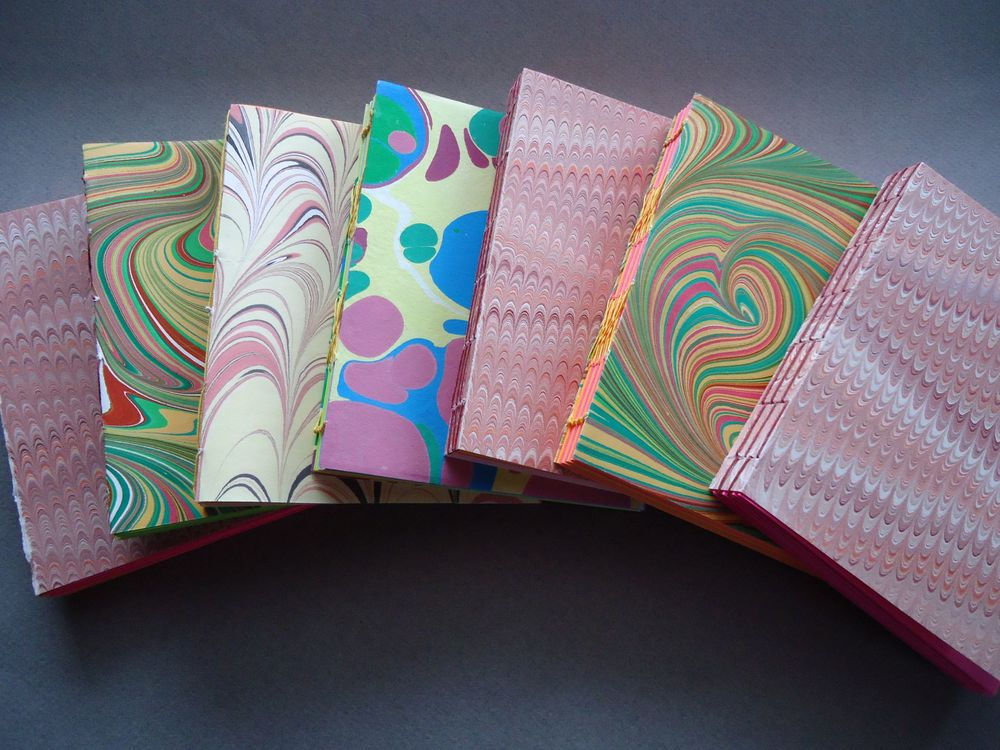 B 51 - Anne Murray  handbound books (with paper, wood, leather, and cloth covers) and handmade papers
