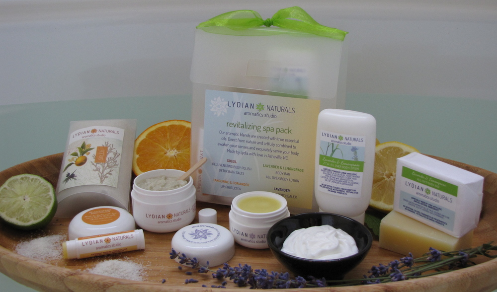 B 73 - Lydia Naturals                                         Lydia Saunders Hand Crafted Natural Body care, artfully and professionally presented