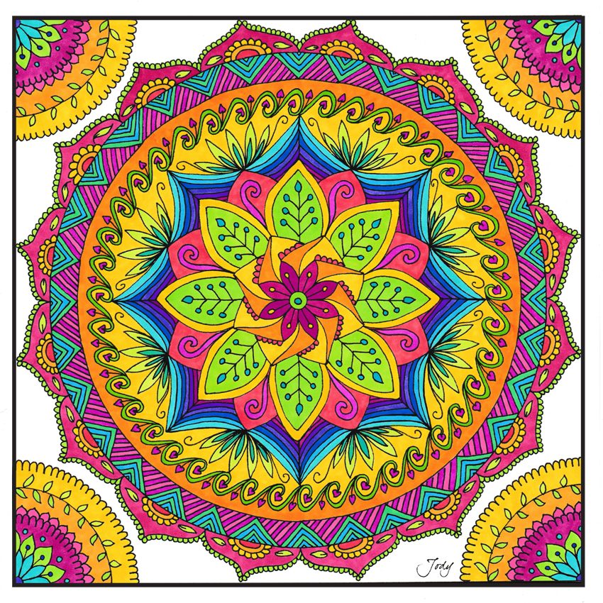 A 76 - JoDesigns                                                      Jody Cooke Hand drawn, hand colored mandalas. Unique one of a kind creations on paper. Originals and prints.