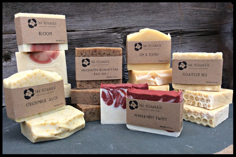 A 9 - The Soaperie                                                   Jennifer Evarts Artisan soaps and spa products with all-natural ingredients.