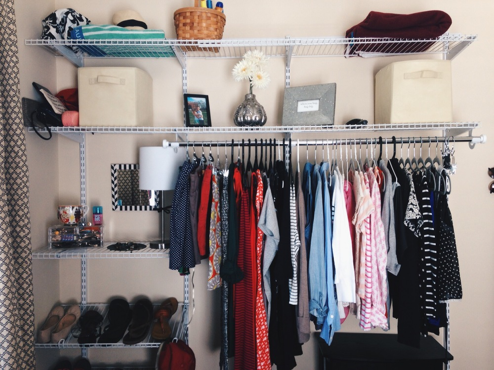 how i solved the 'no closet' dilemma.