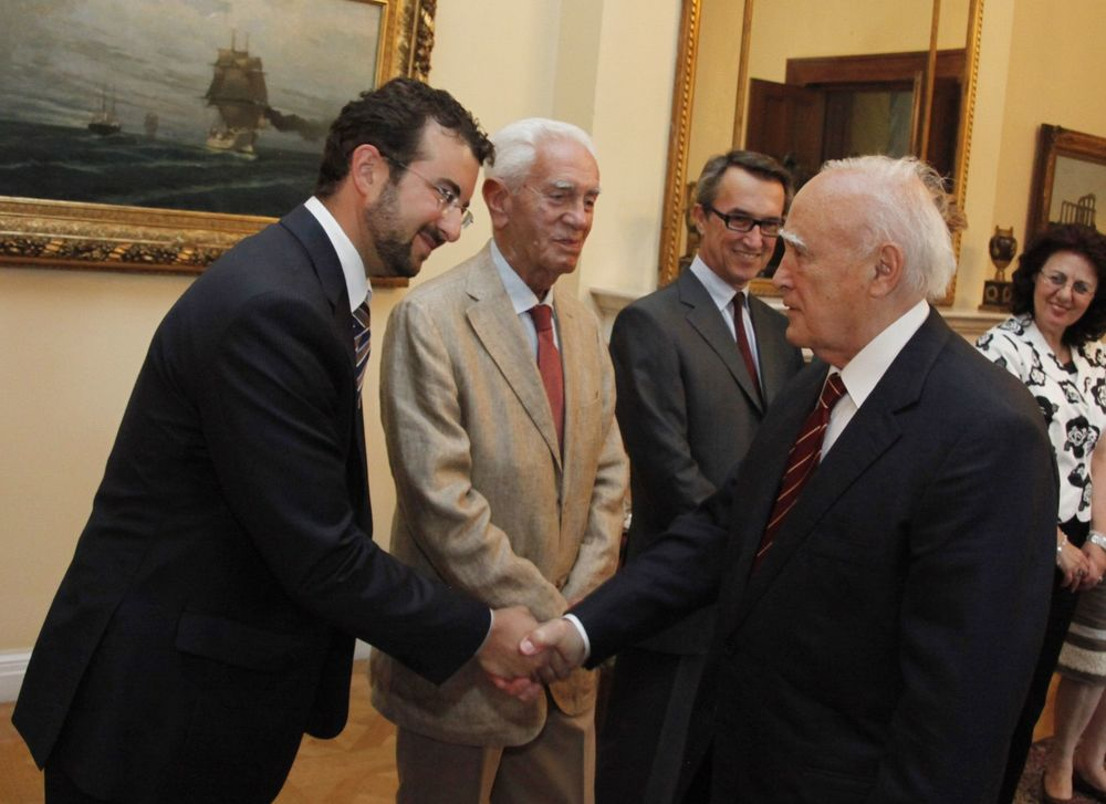 With the President of the Greek Democracy