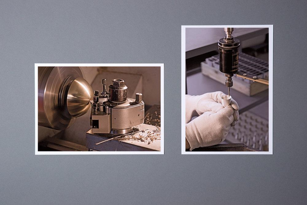 Herstellungsprozess der Metallteile und Leuchten