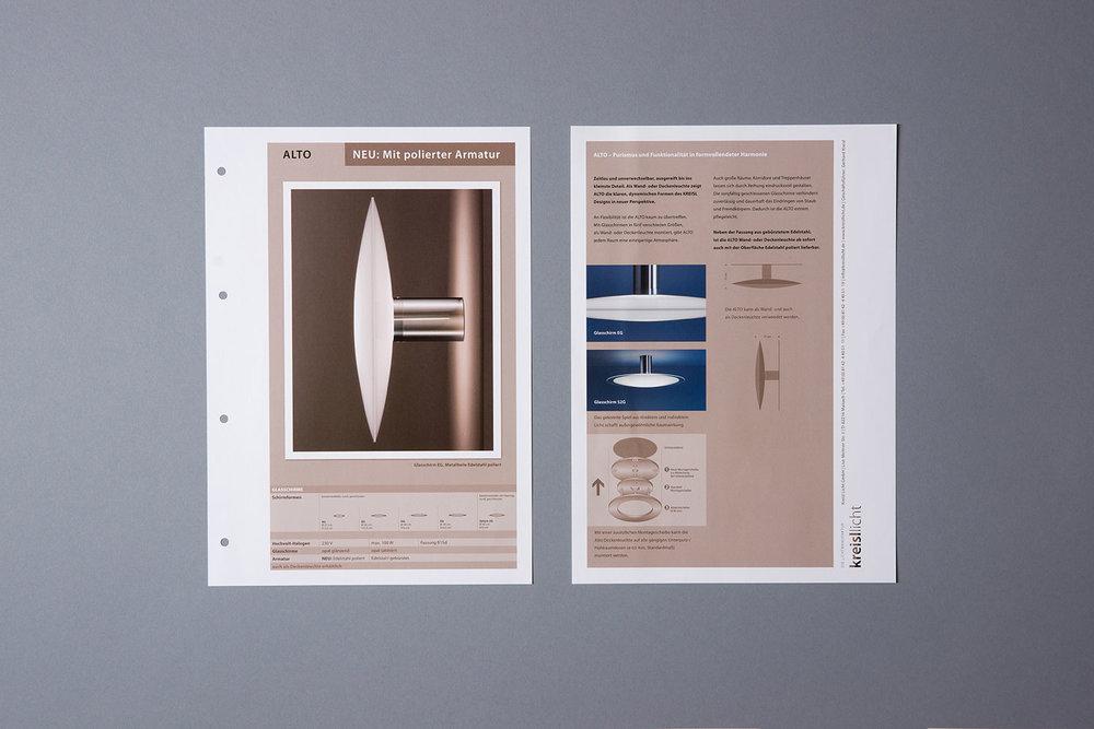 Infoblätter mit Produktneuheiten