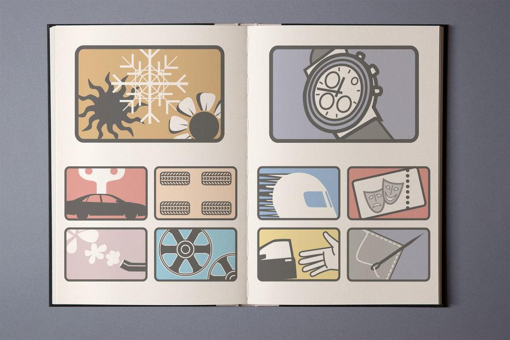 Piktogramme,Bordbuch, AUDI AG