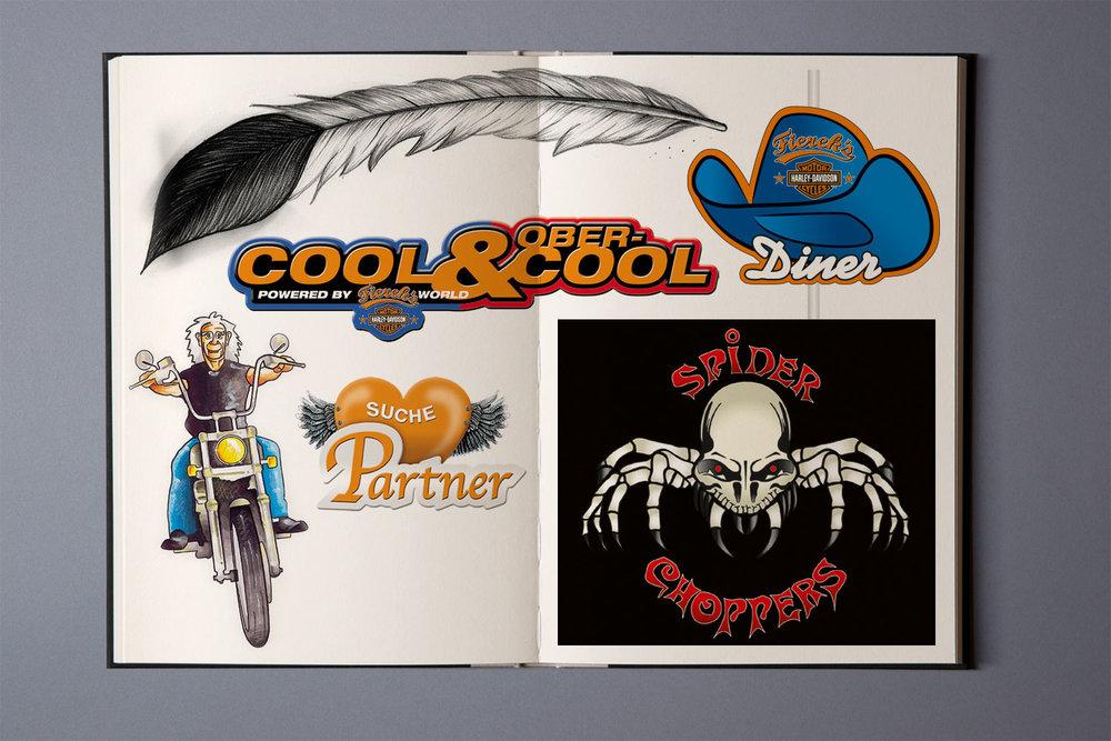 Logoentwürfe und Illustrationen, Fierek's Harley Davidson
