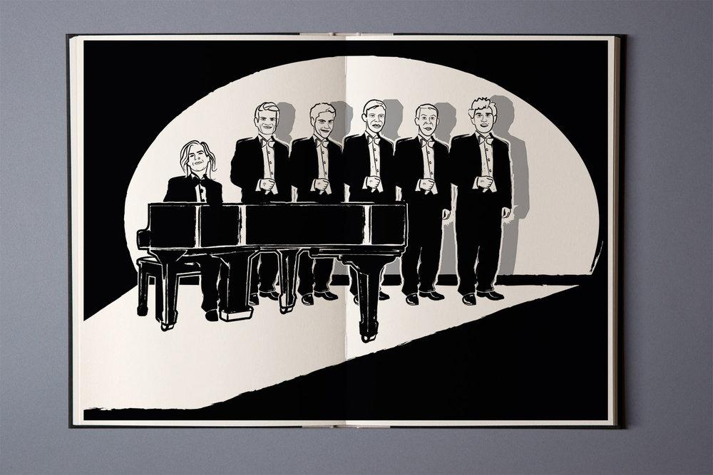 """Animation für Imagefilm der Gesangsgruppe """"Die Nostalphoniker"""""""
