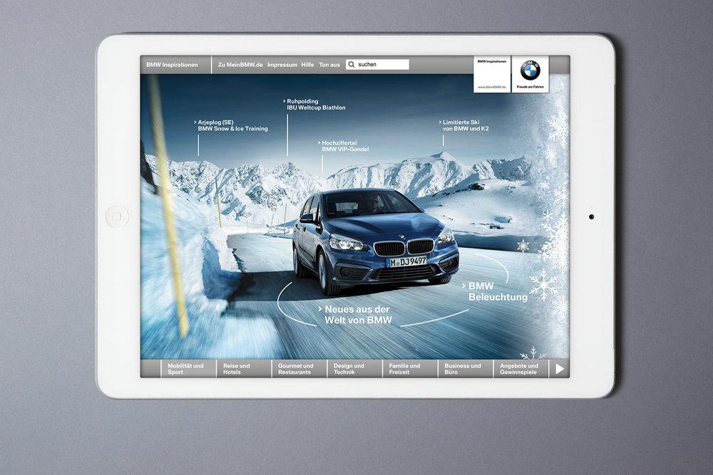 BMW Inspirationen Webportal und native App für IOS und Android (2014)